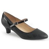 Black Leatherette 5 cm FAB-425 big size pumps shoes