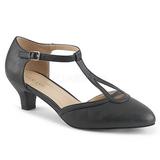 Black Leatherette 5 cm FAB-428 big size pumps shoes