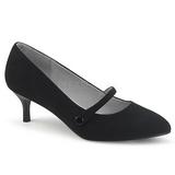 Black Leatherette 6,5 cm KITTEN-03 big size pumps shoes