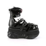 Black Leatherette 7,5 cm NEPTUNE-150 Platform Mens Gothic Shoes