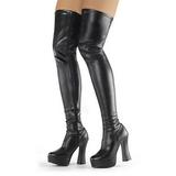Black Matte 13 cm ELECTRA-3000Z High Heeled Overknee Boots