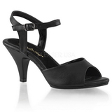 Black Matte 8 cm BELLE-309 Womens High Heel Sandals