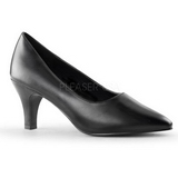 Black Matte 8 cm DIVINE-420W Women Pumps Shoes Flat Heels