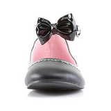 Black Matte STAR-27 gothic ballerina shoes flat heels
