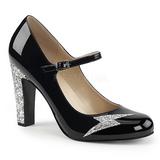 Black Patent 10 cm QUEEN-02 big size pumps shoes
