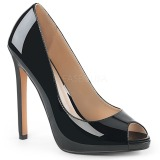Black Patent 13 cm SEXY-42 Low Heeled Classic Pumps Shoes