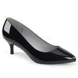 Black Patent 6,5 cm KITTEN-01 big size pumps shoes