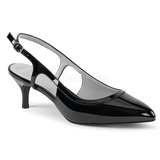 Black Patent 6 cm KITTEN-02 big size pumps shoes