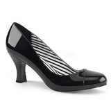 Black Patent 7,5 cm JENNA-01 big size pumps shoes