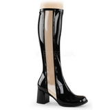 Black Patent 8,5 cm Funtasma GOGO-303 Women Knee Boots