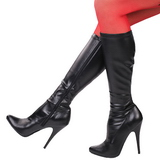 Black Pu 13 cm Pleaser SEDUCE-2000 Women Knee Boots