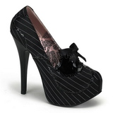 Black Satin 14,5 cm BORDELLO TEEZE-01 Platform Pumps
