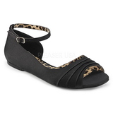 Black Satin ANNA-03 big size ballerinas shoes