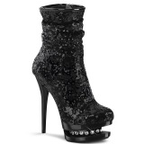 Black Sequins 15,5 cm BLONDIE-R-1009 pleaser ankle boots with platform