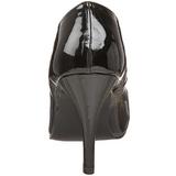 Black Shiny 10 cm DREAM-420 Pumps High Heels for Men
