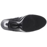 Black Shiny 11,5 cm FLAIR-480 Women pumps for men