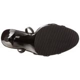 Black Shiny 12 cm FLAIR-436 Womens High Heel Sandals