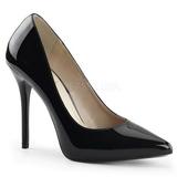 Black Shiny 13 cm AMUSE-20 Pumps High Heels for Men