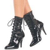 Black Shiny 13 cm SEDUCE-1020 Womens Ankle Boots for Men