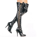 Black Shiny 13 cm SEDUCE-3050 overknee high heel boots