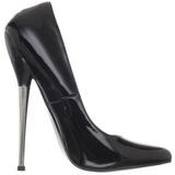 Black Shiny 16 cm DAGGER-01 Fetish Pumps Women Shoes