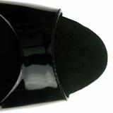 Black Shiny 23 cm Pleaser INFINITY-912SP High Heels Platform