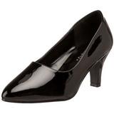 Black Shiny 8 cm DIVINE-420W High Heel Pumps for Men