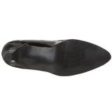 Black Shiny 8 cm DIVINE-440 High Heel Pumps for Men