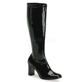 Black Shiny 9,5 cm FUNTASMA KIKI-350 Women Knee Boots