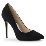 Black Suede 13 cm AMUSE-20 Women Pumps Shoes Stiletto Heels