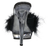 Black Transparent 13 cm Fabulicious LIP-101-8 Platform High Mules