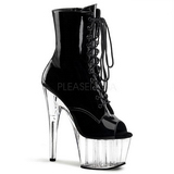 Black Transparent 18 cm ADORE-1021 womens platform soled ankle boots