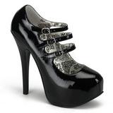 Black Varnish 14,5 cm Burlesque TEEZE-05 Womens Shoes with High Heels