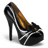 Black Varnish 14,5 cm TEEZE-14 Womens Shoes with High Heels