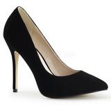 Black Velvet 13 cm AMUSE-20 Pumps High Heels for Men