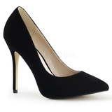 Black Velvet 13 cm AMUSE-20 Women Pumps Shoes Stiletto Heels
