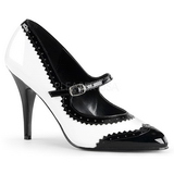 Black White 10,5 cm VANITY-442 Women Pumps Shoes Flat Heels