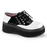 Black White 5 cm EMILY-303 lolita shoes gothic platform shoes