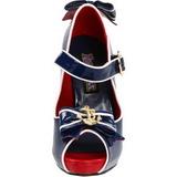 Blu 11,5 cm ANCHOR-22 Scarpe da donna con tacco altissime