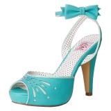 Blu 11,5 cm Pinup BETTIE-01 sandali tacchi a spillo
