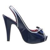 Blu 11,5 cm retro vintage BETTIE-05 Scarpe da donna con tacco altissime