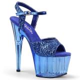Blu 18 cm ADORE-710GT scintillare plateau sandali donna con tacco