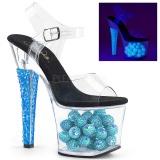 Blu 18 cm RADIANT-708NSB Neon plateau sandali donna con tacco