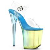 Blu 20 cm FLAMINGO-808MCT sandali da pole dance