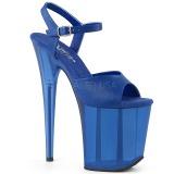Blu 20 cm FLAMINGO-809T sandali da cubista e spogliarellista acrilico