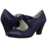 Blu 6,5 cm WIGGLE-32 Pinup scarpe décolleté con tacco spesso