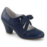 Blu 6,5 cm WIGGLE-32 retro vintage scarpe décolleté maryjane tacco spesso