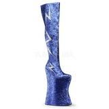 Blu Brillare 34 cm VIVACIOUS-3016 Overknee Stivali da Drag Queen