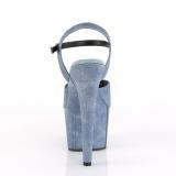 Blu Ecopelle 18 cm ADORE-709WR sandali tacchi a spillo
