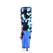 Blu Lustrini 18 cm ADORE-1031SSQ pleaser stivaletti con plateau